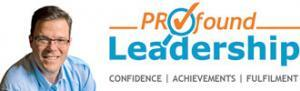 PROfound Leadership Logo with Tagline - Confidence Achievements Fulfilment - Professional Development